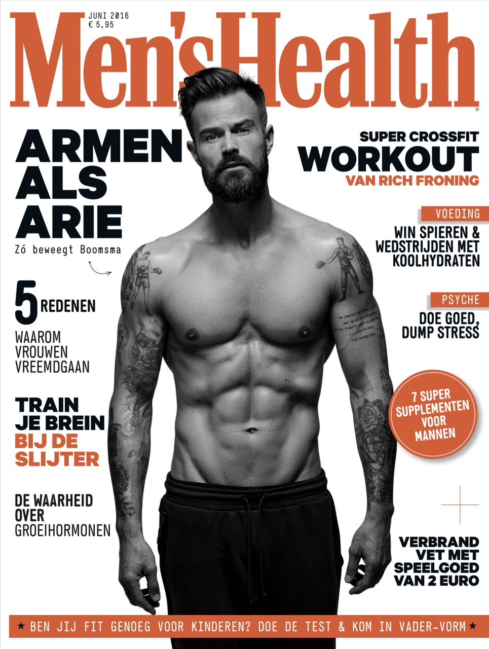 Men's Health Cover training - Arie Boomsma