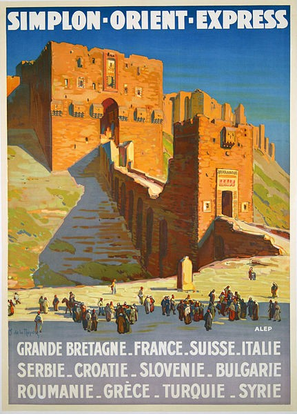Vintage poster promoting the Orient Express (Author: Joseph de La Nézière)