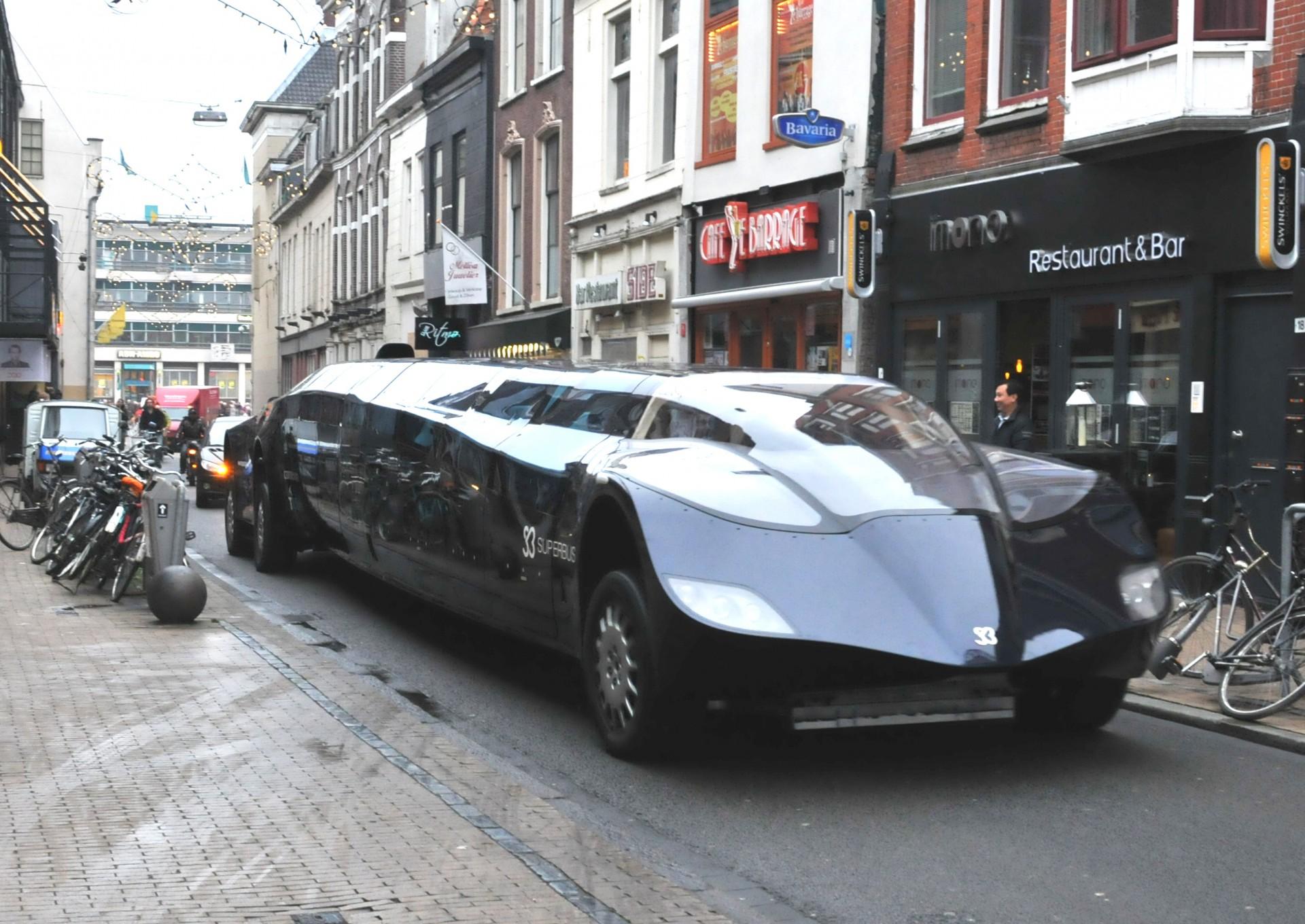 When the Batmobile meets a bus... WIKIPEDIA