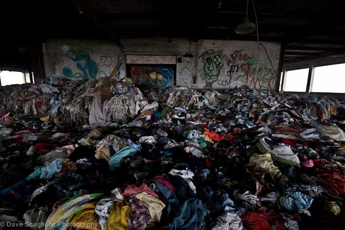 Textile waste. Image by Dave Scaglione