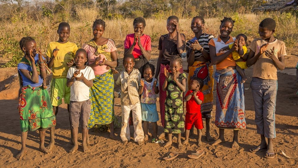 Laurinda and her family after her cataracts surgery. Photo courtesy of Sightsavers
