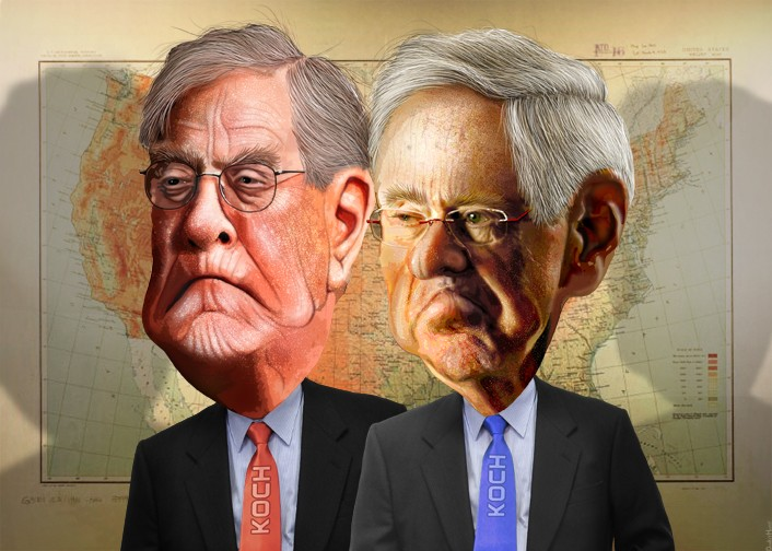 The Koch Brothers by DonkeyHotey