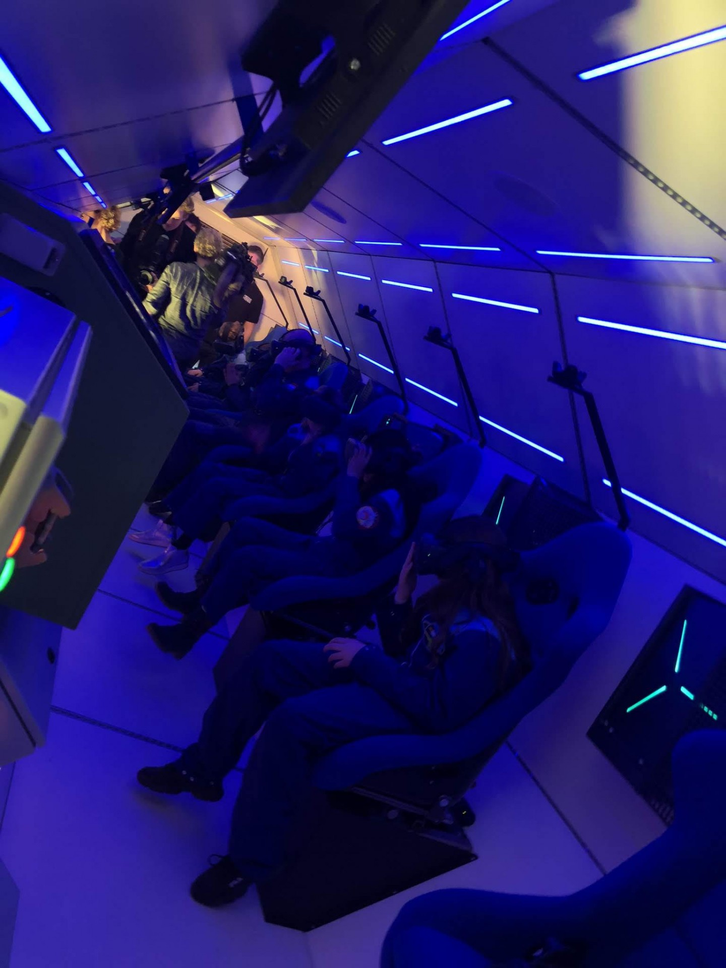 Children trying out the Spacebuzz experience during the inaugural launch