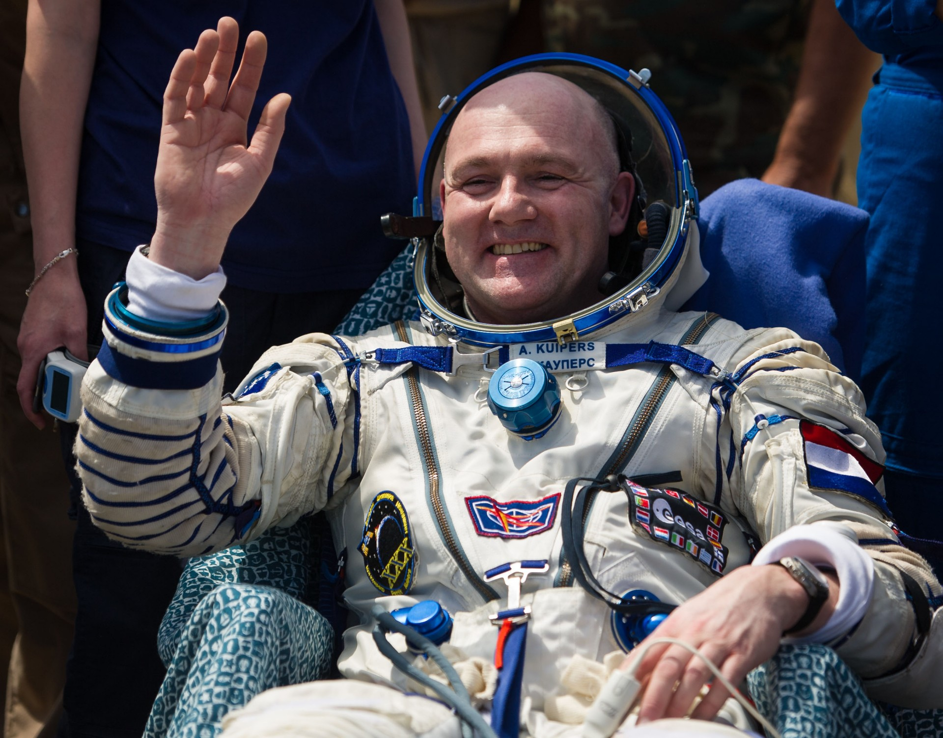 Dutch astronaut André Kuipers is one of Spacebuzz' most prominent ambassador NASA/BILL INGALLS
