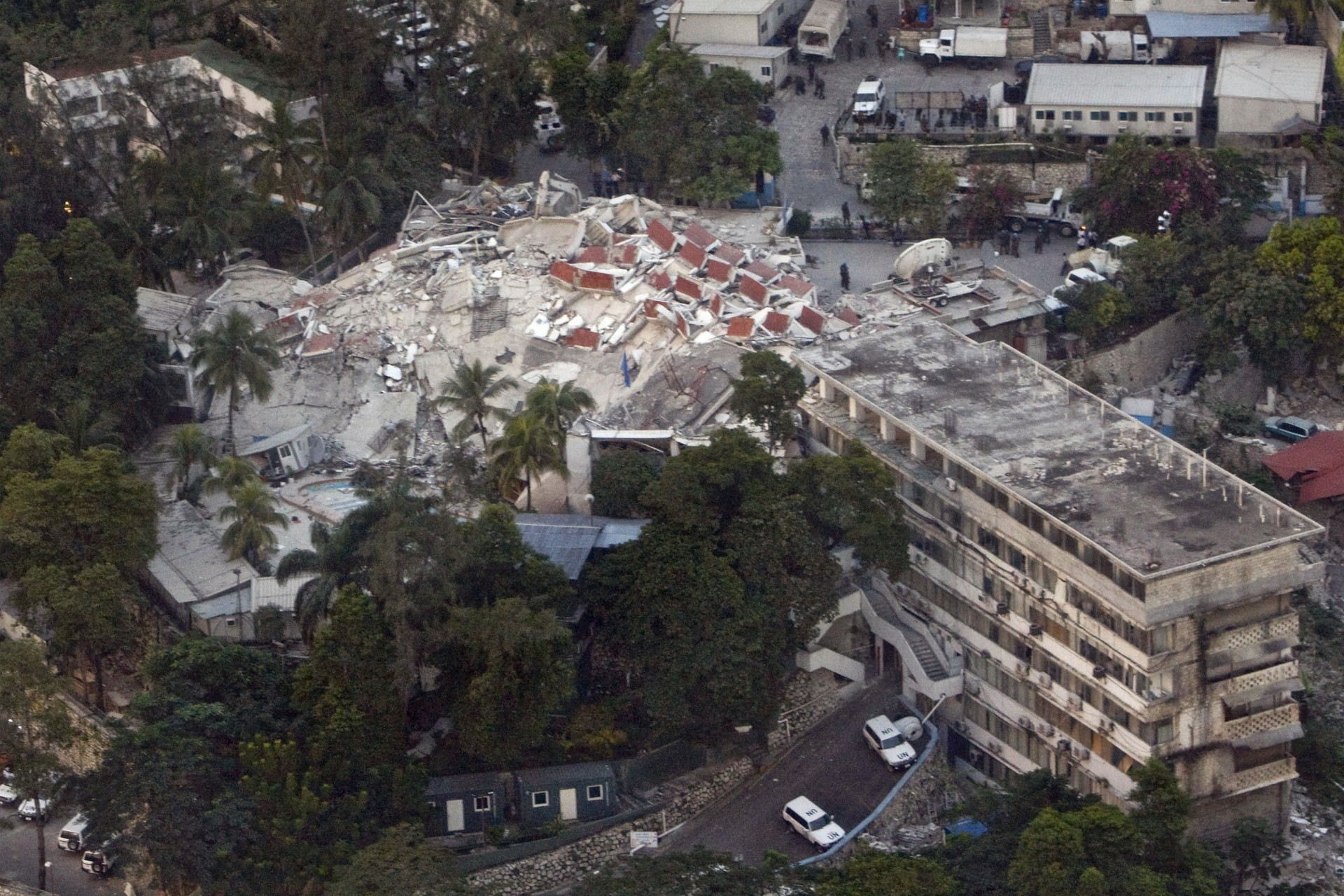 UN headquarters after 2010 earthquake