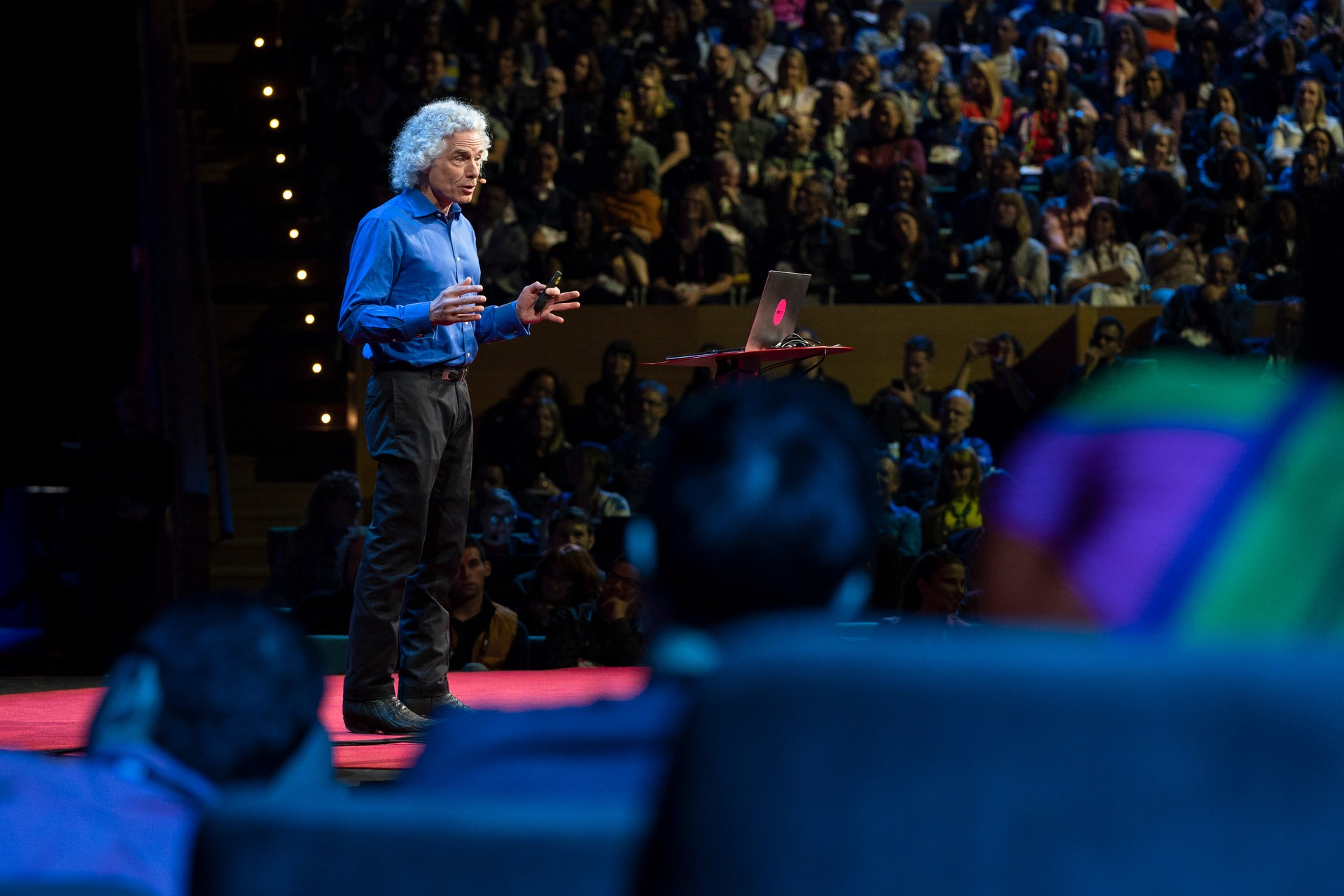 Steven Pinker speaks at TED2018 - The Age of Amazement, April 10 - 14, 2018, Vancouver, BC, Canada. Photo: Ryan Lash / TED